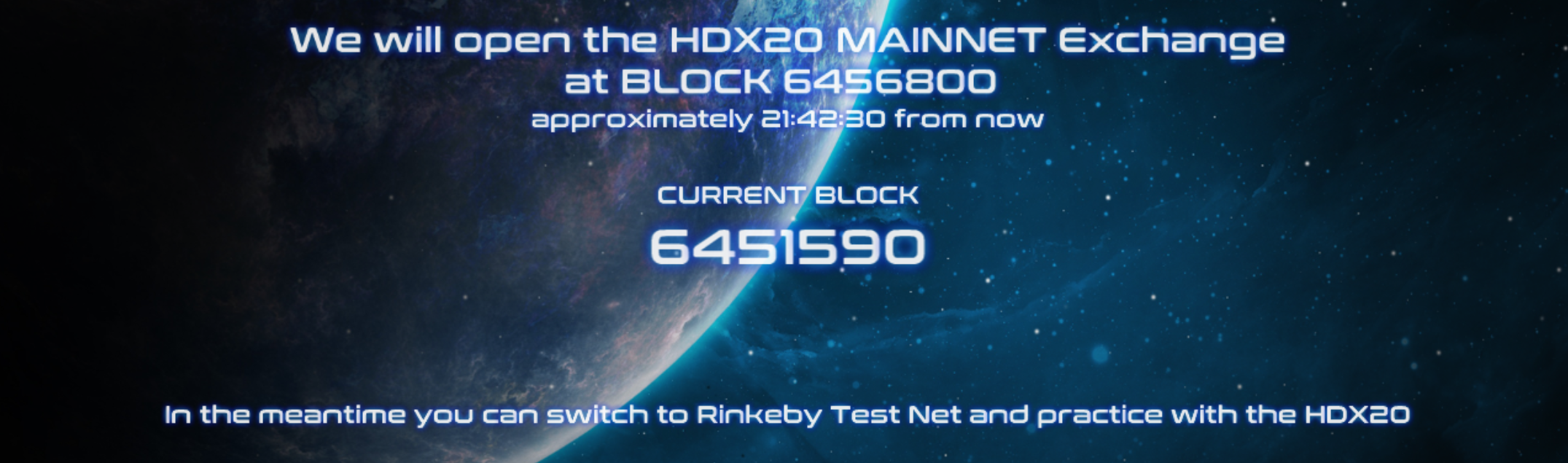 HDX20 Opening at block 6456800