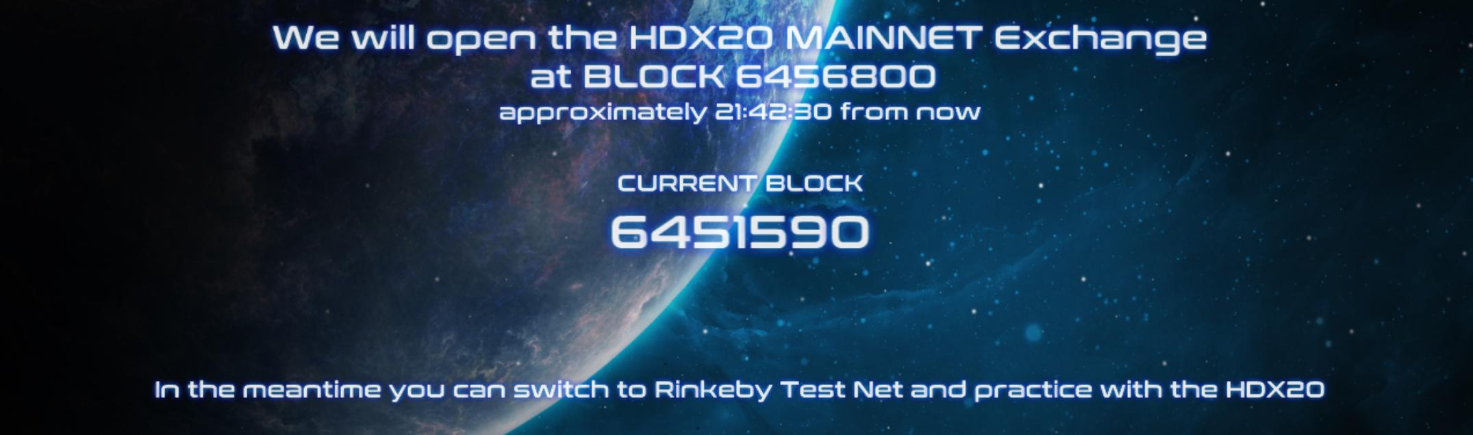 HDX20 Opening at block 6456800